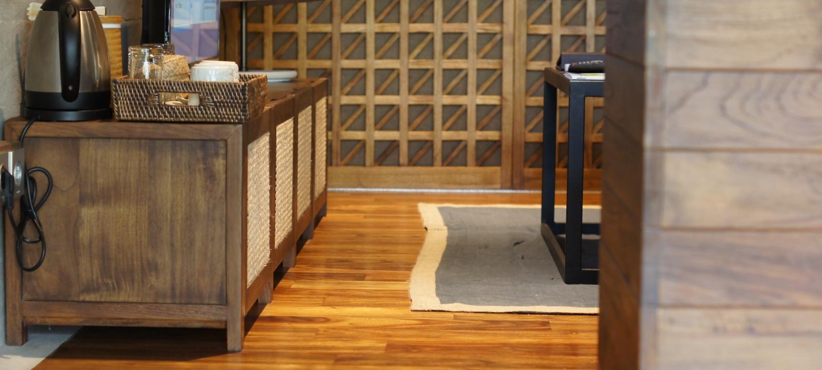 Bisma 8 Hotel flooring installation